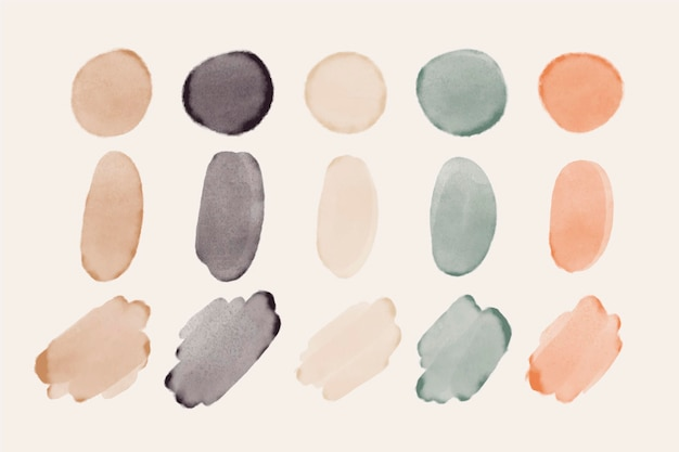 Hand painted watercolor brush stroke collection
