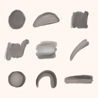 手描き水彩ブラシストロークコレクション