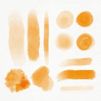 Коллекция рисованной акварельных мазков