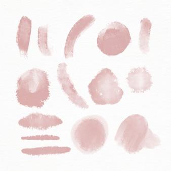 손으로 그린 수채화 브러시 스트로크 컬렉션