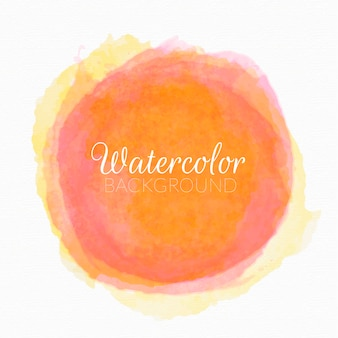 Hand painted watercolor circle vector