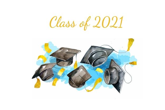 Ручная роспись акварелью класс 2021 года
