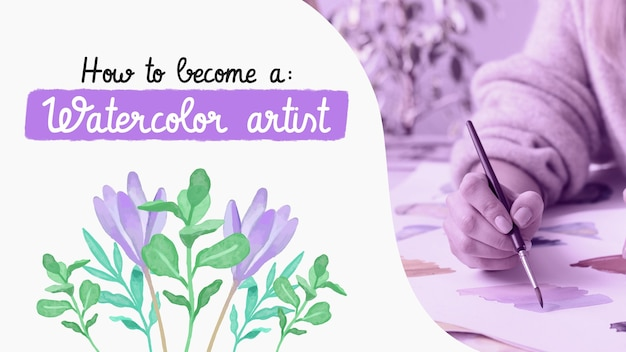 Hand painted watercolor craft youtube thumbnail