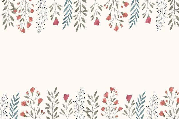 손으로 그린 수채화 꽃 배경