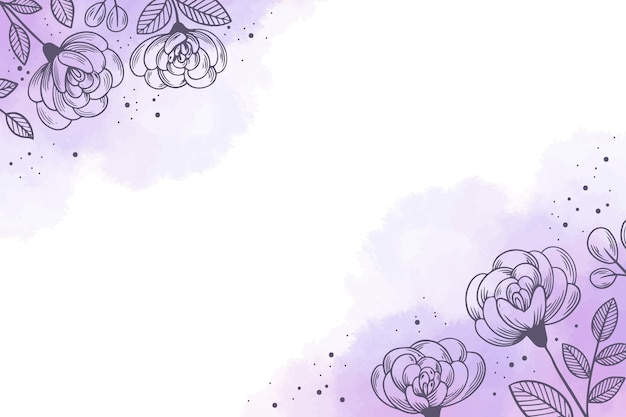 Hand painted watercolor floral background