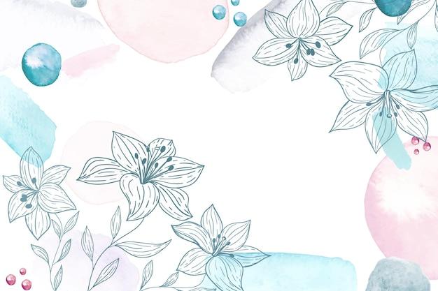 Ручная роспись акварель цветочный фон