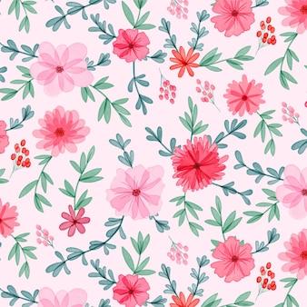 Ручная роспись акварелью цветочный узор