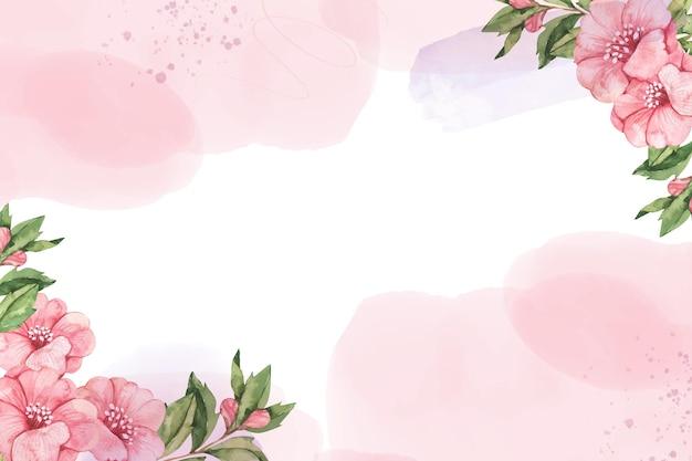 Carta da parati floreale ad acquerello dipinta a mano