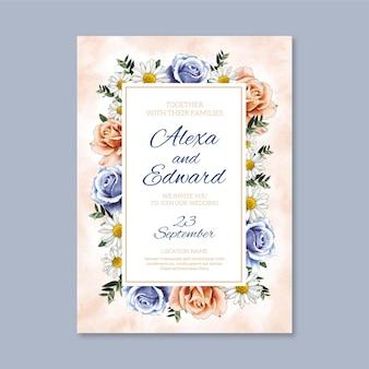 Ручная роспись акварелью цветочные свадебные приглашения