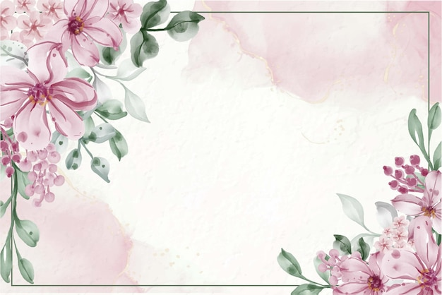 Hand painted watercolor flower background