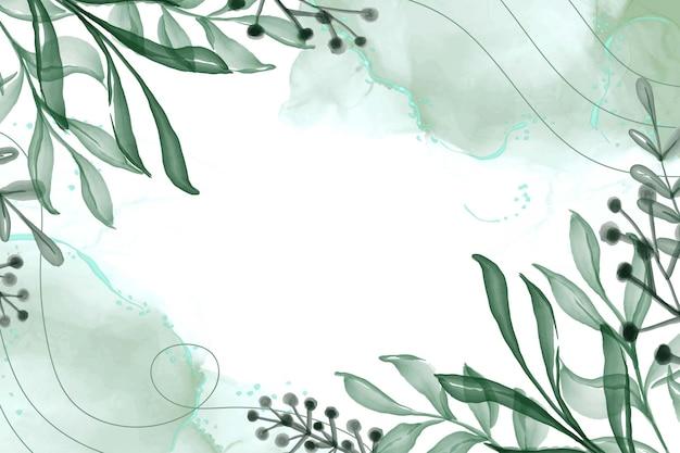手描きの水彩フレームの自然の背景