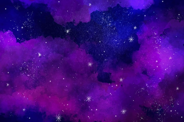 手描きの水彩銀河の壁紙