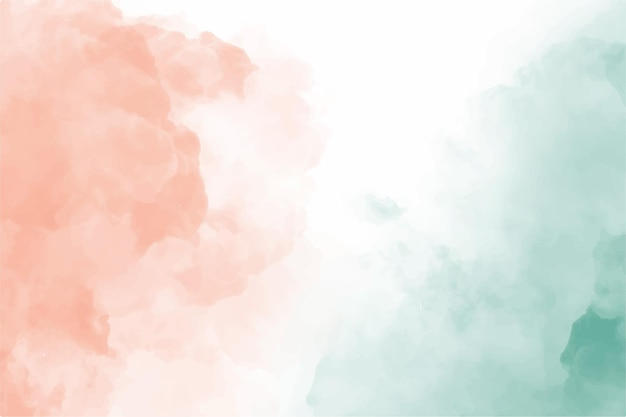 Ручная роспись акварель зеленый красный фон неба