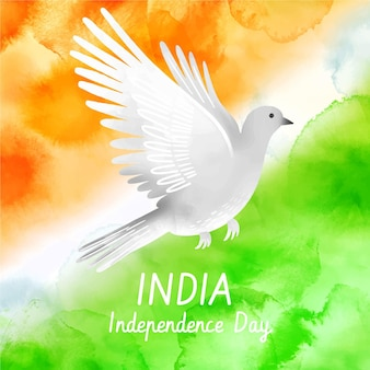 Illustrazione dipinta a mano del giorno dell'indipendenza dell'india dell'acquerello