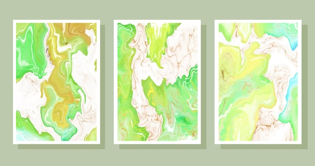Hand painted watercolor liquid marble covers collection