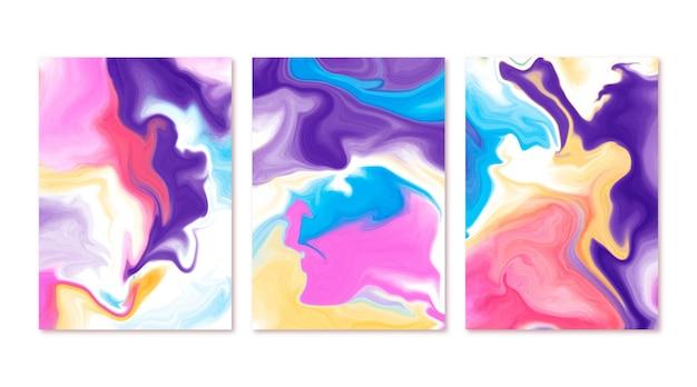 Copertine in marmo liquido acquerellato dipinte a mano