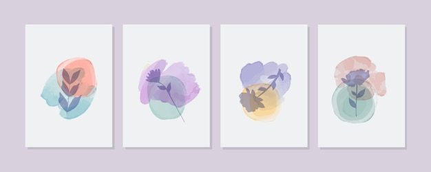 Hand painted watercolor minimal hand drawn covers collection