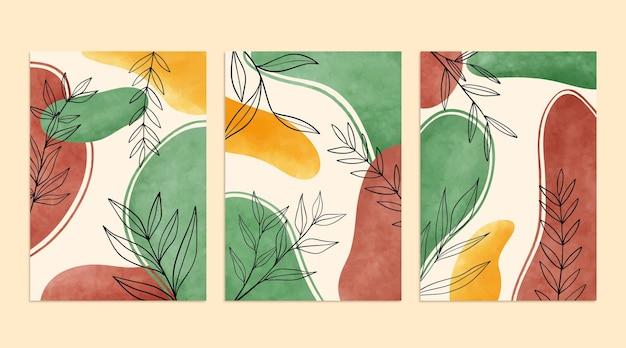 手描き水彩ミニマル手描きカバーコレクション
