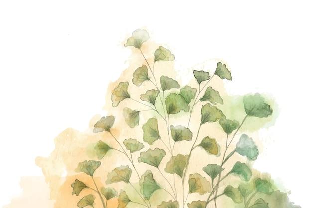 手描きの水彩自然の背景