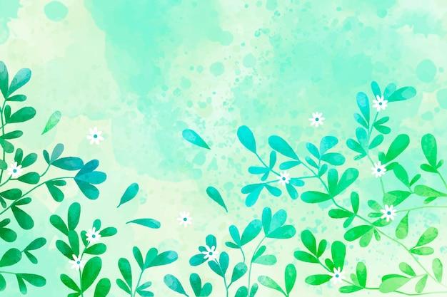 손으로 그린 수채화 자연 배경