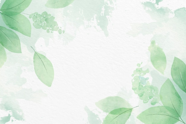 Hand painted watercolor nature background Free Vector