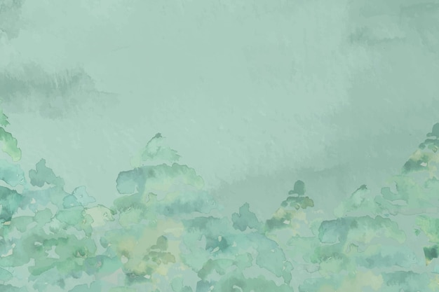 Hand painted watercolor nature background