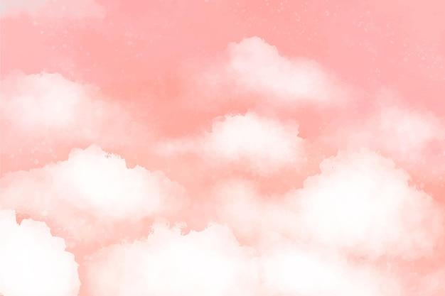 Ручная роспись акварель пастельный фон неба Premium векторы