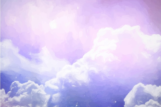 Ручная роспись акварель пастельный фон неба