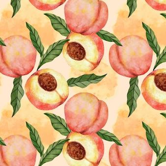 Ручная роспись акварель персиковый узор