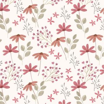 Ручная роспись акварель прессованные цветы шаблон