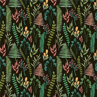 손으로 그린 수채화 누르면 꽃 패턴
