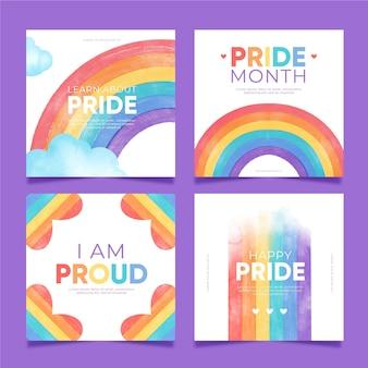 Коллекция сообщений в instagram на день гордости с ручной росписью