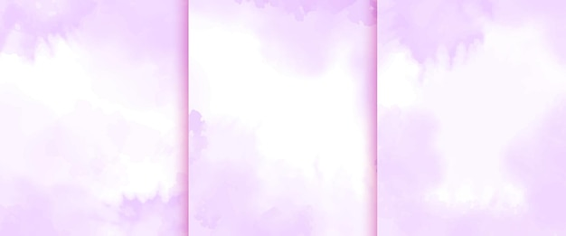 Hand painted watercolor purple background collection