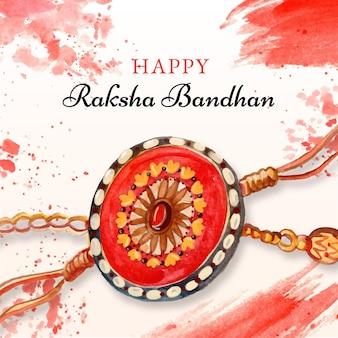 손으로 그린 수채화 raksha bandhan 그림