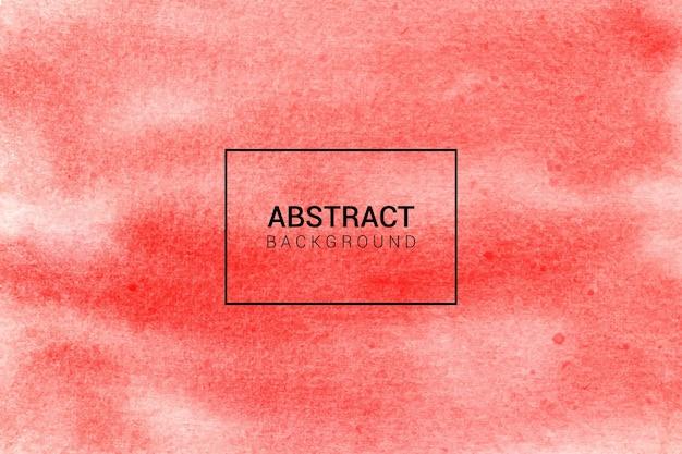 手描きの水彩画の赤の抽象的な背景