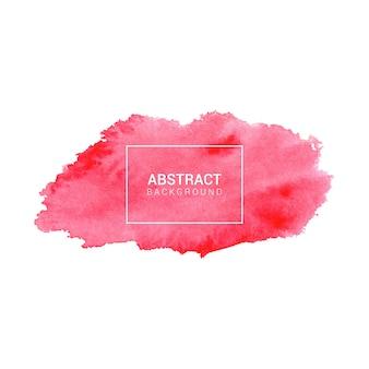 手描き水彩赤抽象的なテクスチャ背景