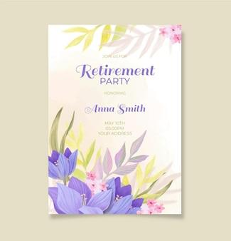 ручная роспись акварелью шаблон поздравительной открытки на пенсию