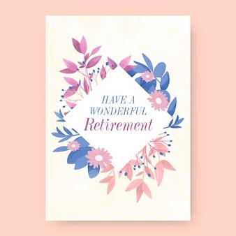 손으로 그린 수채화 은퇴 인사말 카드