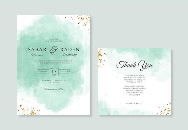 Ручная роспись акварель всплеск для шаблона приглашения свадебной открытки