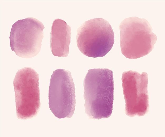 손으로 그린 수채화 얼룩 컬렉션