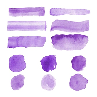 Hand painted watercolor stain collection