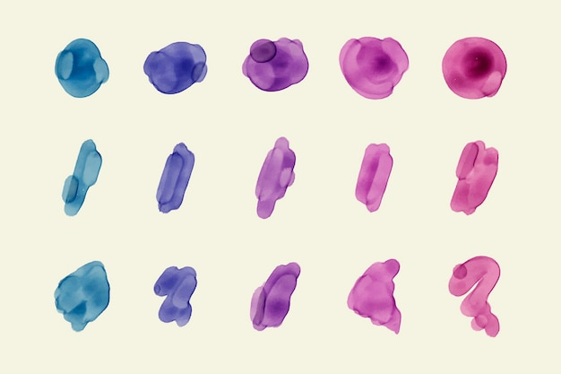 Hand painted watercolor stain pack