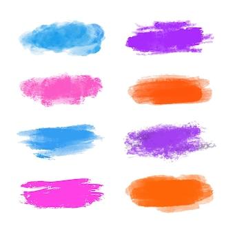 手描きの水彩ステインコレクション