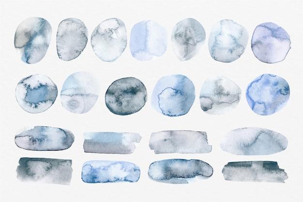 手描きの水彩画の染み