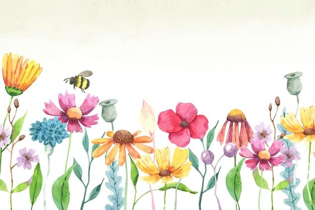 Ручная роспись акварель летний фон
