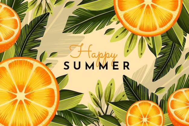 Ручная роспись акварелью летняя иллюстрация