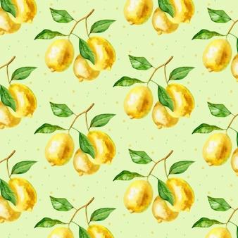 손으로 그린 수채화 여름 패턴