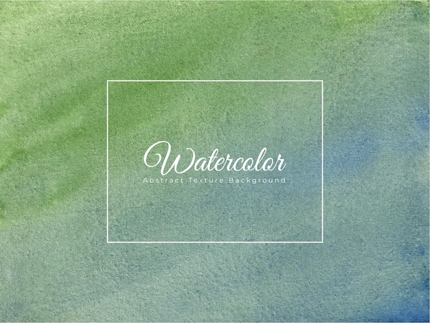Hand painted watercolor texture background in blue green color