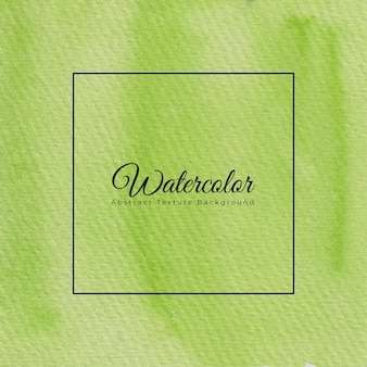 Hand painted watercolor texture background in green color