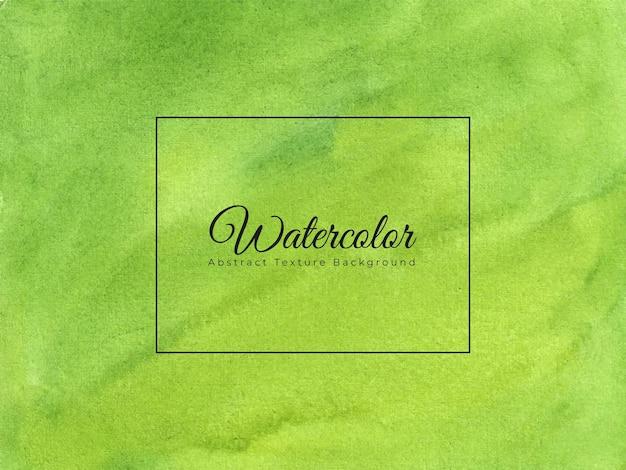 손으로 그린 수채화 질감 배경 녹색 색상